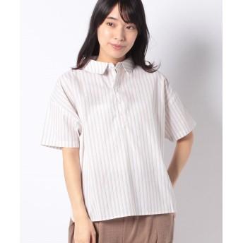 【55%OFF】 コエ ストライプワイドシャツ レディース ベージュ F 【koe】 【タイムセール開催中】