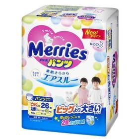 メリーズパンツ さらさらエアスルー ビッグより大きいサイズ 26枚【3個セット(ケース販売)】