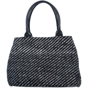 《セール開催中》TOSCA BLU レディース ハンドバッグ ブラック 紡績繊維