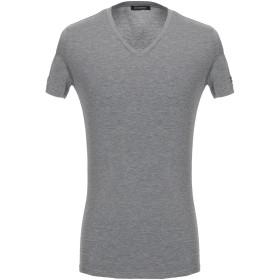 《セール開催中》ERMENEGILDO ZEGNA メンズ アンダーTシャツ グレー S レーヨン 90% / ポリウレタン 10%