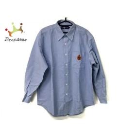 ラルフローレン 長袖シャツ サイズLL メンズ ライトブルー×レッド×ライトブラウン 刺繍   スペシャル特価 20190905