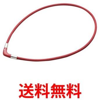 磁気ネックレス チタンネックレス Vタイプ ラクワ RAKUWA 赤 ボルドー 45cm ファイテン phiten 肩こり