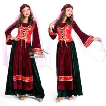 パーティードレス 民族衣装 アラブ 貴族 コスプレ ハロウィン パーティー 仮装 コスプレ  クリスマス ロング丈  お呼ばれ 大人かわいい