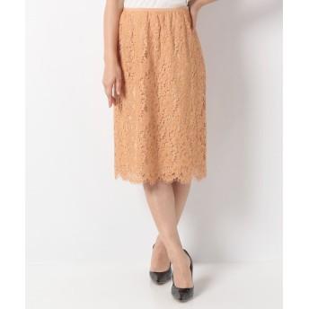 ANAYI パネルレースタイトスカート