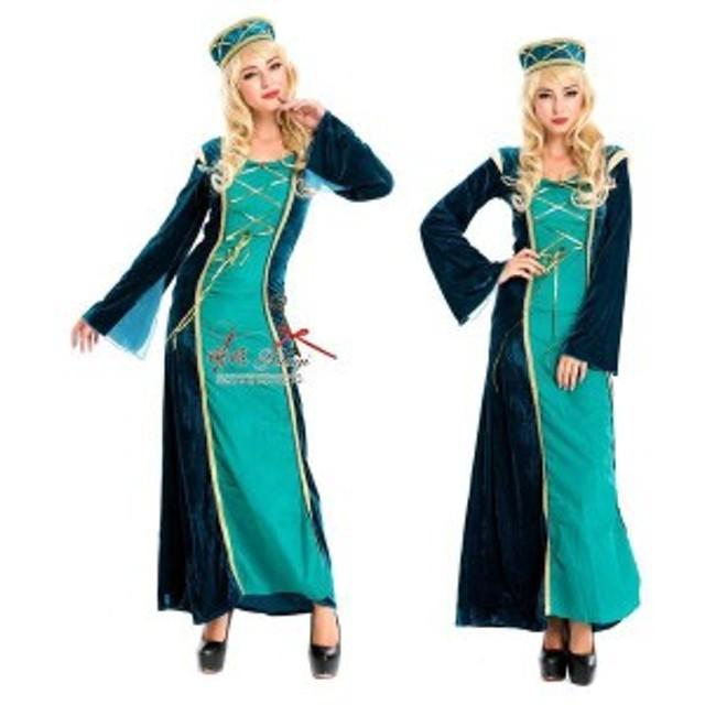 パーティードレス 民族衣装 アラブ 貴族 コスプレ 王女  ロング丈  お呼ばれ 大人かわいい ワンピース 結婚式 ドレス フォーマルドレス