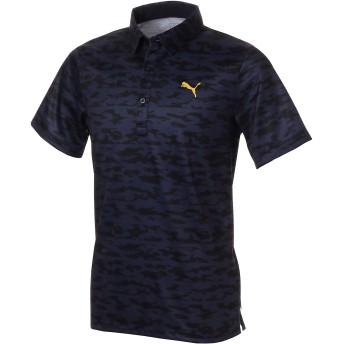 【プーマ公式通販】 プーマ ゴルフ ボーダーカモ SSポロシャツ 半袖 メンズ Peacoat  PUMA.com