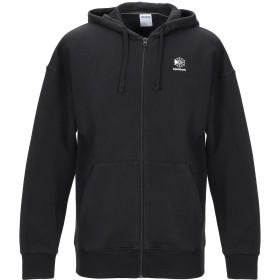 《期間限定 セール開催中》REEBOK メンズ スウェットシャツ ブラック XL オーガニックコットン 80% / ポリエステル 20%