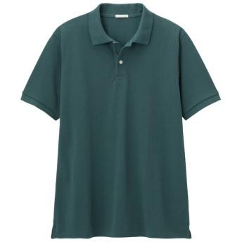 (GU)GUドライポロシャツ(半袖)CL DARK GREEN XS