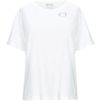 《期間限定セール開催中!》SAINT LAURENT レディース T シャツ ホワイト XS コットン 100%
