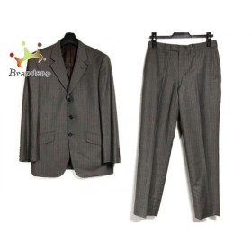 ポールスミス PaulSmith シングルスーツ メンズ グレー×ベージュ ストライプ/ネーム刺繍   スペシャル特価 20190727