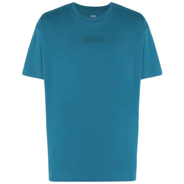 《期間限定 セール開催中》VANS メンズ T シャツ ターコイズブルー S コットン 100% OVERTIME OUT SS