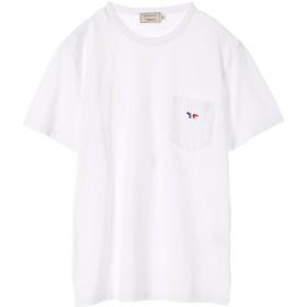 MAISON KITSUNÉ TEE-SHIRT TRICOLOR FOX PATCH Tシャツ・カットソー,WHITE