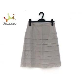 ニジュウサンク 23区 スカート サイズ36 S レディース ベージュ   スペシャル特価 20190916