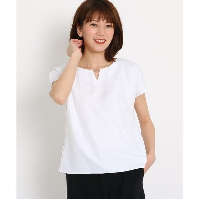 COUP DE CHANCE / クードシャンス 【洗える】バーネック タックスリーブシャツ