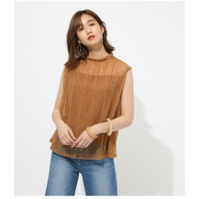 【50%OFF】 アズールバイマウジー FRILL NECK LACE TOPS レディース D/YEL3 S 【AZUL BY MOUSSY】 【セール開催中】
