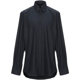 《期間限定セール開催中!》VERSACE COLLECTION メンズ シャツ ダークブルー 43 コットン 100%