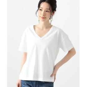 ビームス ウィメン Ray BEAMS / コットン 天竺 Vネック Tシャツ レディース WHITE 1 【BEAMS WOMEN】