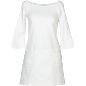《セール開催中》PATRIZIA PEPE レディース ミニワンピース&ドレス ホワイト 46 コットン 99% / ポリウレタン 1%