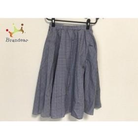 マッキントッシュフィロソフィー スカート サイズ36 M レディース 美品 ブルー×ネイビー   スペシャル特価 20190912