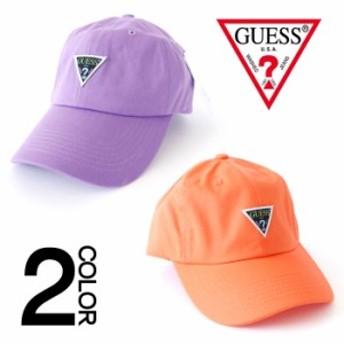 ゲス CAP GUESS ブラックトライアングルワッペンキャップ 帽子 ローキャップ 男女兼用 メンズ レディース