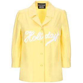 《期間限定 セール開催中》BOUTIQUE MOSCHINO レディース シャツ イエロー 40 コットン 96% / 指定外繊維 4%