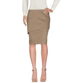 《セール開催中》BRUNELLO CUCINELLI レディース ひざ丈スカート カーキ 42 コットン 96% / ポリウレタン 4%
