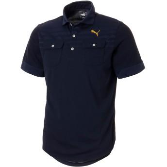 【プーマ公式通販】 プーマ ゴルフ フェイドストライプジャカード SSポロシャツ 半袖 メンズ Peacoat  PUMA.com