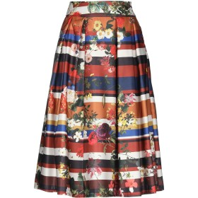 《期間限定 セール開催中》MANGANO レディース 7分丈スカート 赤茶色 S/M ポリエステル 100%