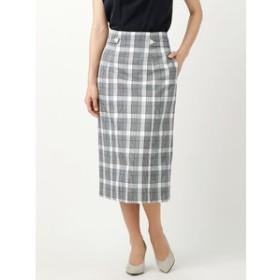 【THE SUIT COMPANY:スカート】【ウォッシャブル】グレンチェック柄ロングタイトスカート