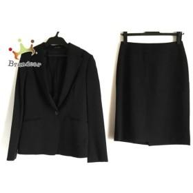 コムサデモード COMME CA DU MODE スカートスーツ サイズ9 M レディース 新品同様 黒 3点セット 新着 20190604
