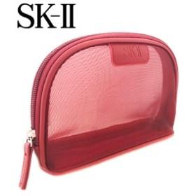 SK-II メッシュレッドラウンドポーチ(001)【W_47】
