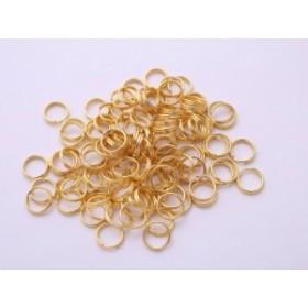 2重カン(直径約7mm・線径約0.7mm)約100個 ゴールド 2重丸カン ニコイル 2重リング 基礎金具 基本金