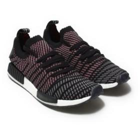 (atmos/アトモス)adidas Originals NMD_R1 STLT PK Core Black/Grey Four/Solar Pink/メンズ ブラック