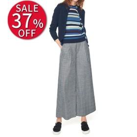 セール ファッション グレンチェックストレッチ ワイドパンツ レディース パンツ PC1513