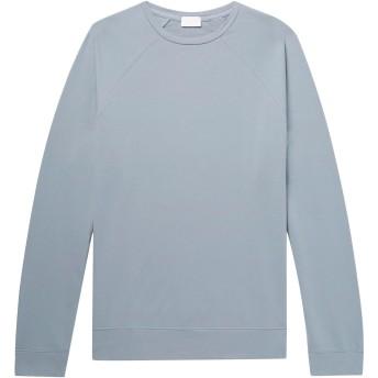 《セール開催中》HANDVAERK メンズ スウェットシャツ スカイブルー S ピマコットン 95% / ポリウレタン 5%
