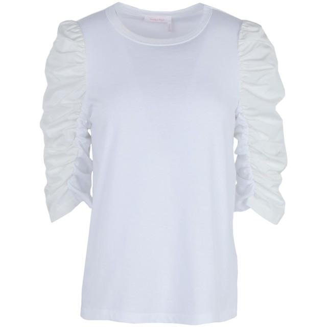 《期間限定セール開催中!》SEE BY CHLO レディース T シャツ ホワイト XS コットン 100%