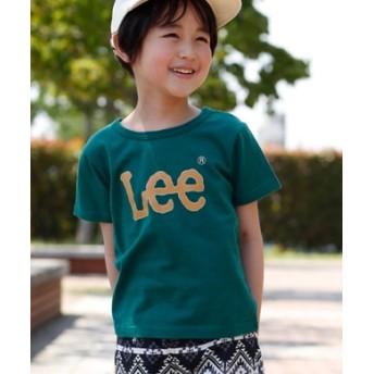 Lee プリントロゴTシャツ キッズ グリーン