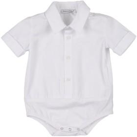 《送料無料》DOLCE & GABBANA ボーイズ 0-24 ヶ月 シャツ ホワイト 6 コットン 98% / ポリウレタン 2%