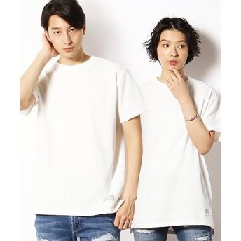 【50%OFF】 コムサイズム ワッフル 半袖ロング Tシャツ ユニセックス アイボリー M 【COMME CA ISM】 【セール開催中】