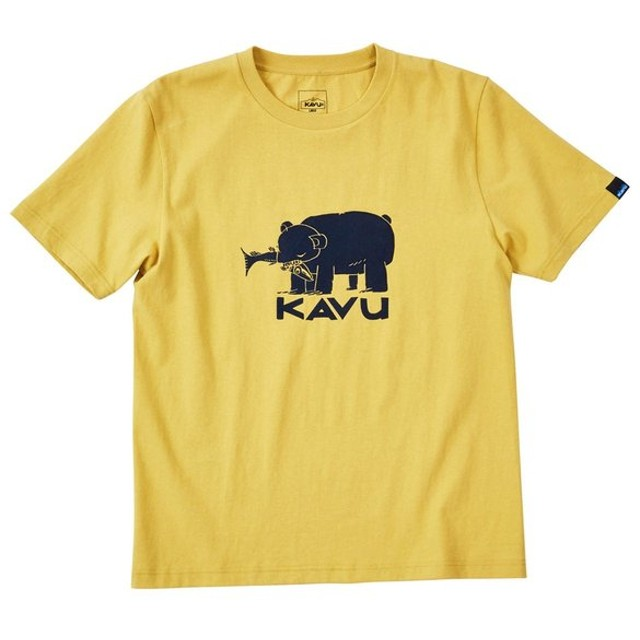 カブー KAVU Hai Bear Tee Mustard