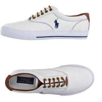 《期間限定セール開催中!》POLO RALPH LAUREN メンズ スニーカー&テニスシューズ(ローカット) ホワイト 7 紡績繊維 / 革