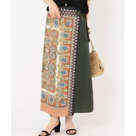 SHIPS for women / シップスウィメン スカーフプリントラップスカート