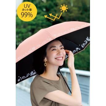 折りたたみ日傘(フラワー刺しゅう)