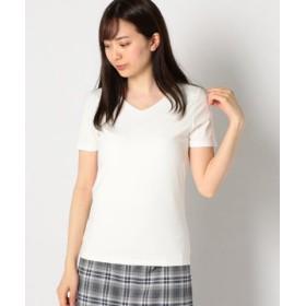 (MEW'S REFINED CLOTHES/ミューズ リファインド クローズ)接触冷感VTシャツ/レディース シロ