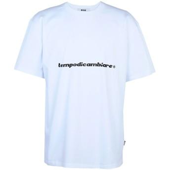 《9/20まで! 限定セール開催中》MSGM メンズ T シャツ ホワイト XS コットン 100%