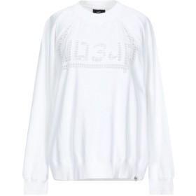 《期間限定セール開催中!》DIESEL レディース スウェットシャツ ホワイト XXS コットン 100% / ナイロン / ポリウレタン