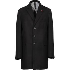 《期間限定セール開催中!》FAG メンズ コート ブラック 56 ポリエステル 90% / レーヨン 8% / ポリウレタン 2%