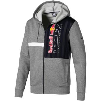【プーマ公式通販】 プーマ RED BULL RACING ロゴ フーデッド スウェット ジャケット メンズ Medium Gray Heather |PUMA.com