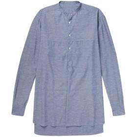《期間限定セール開催中!》EIDOS メンズ シャツ ダークブルー S コットン 78% / シルク 22%