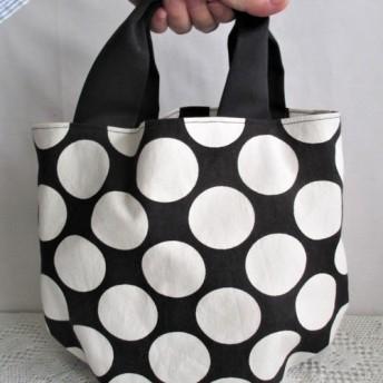 「Creema限定」帆布の日常使いトートバッグ(5cmドット柄)
